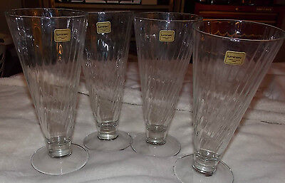 """Set of 4 Luminarc France tall beer steins-NWT hold approx. 12 oz. 8"""" tall"""
