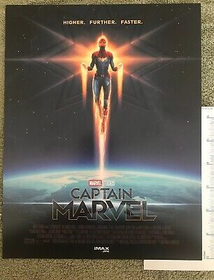 "Captain Marvel AMC IMAX Exclusive 8.5"" x 11"" Mini Poster - SHIPS FLAT"