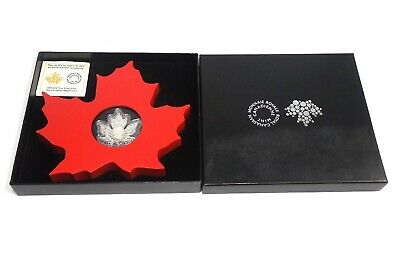 Royal Canadian Mint 2015 $20 Fine Silver Coin Maple Leaf Display Coa 99.99 Pure