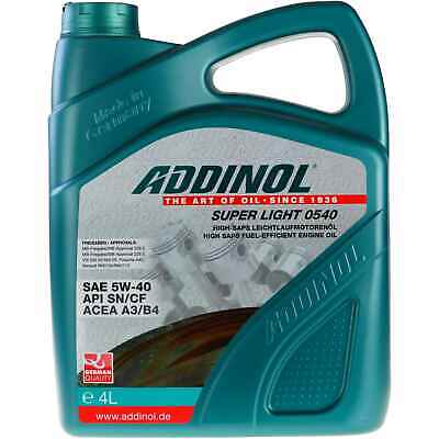 ADDINOL SUPER LIGHT 0540 Motoröl 5W-40 MB 229.5/226.5 VW 502 00/505 00 4 Liter