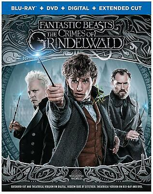 Fantastic Beasts: The Crimes of Grindelwald ( Blu-ray + DVD + Digital ) NEW