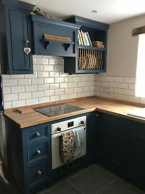 Solid Pine Bespoke Farmhouse Country Kitchen-Painted Colour Sample.