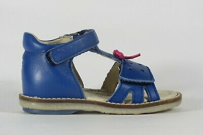 NOEL Enfant Mini Sono blue leather enclosed heel little girl's sandal