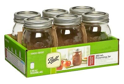6 Pack Ball Mason Signature Preserving Jars 490Ml Regular Mouth With Recipes