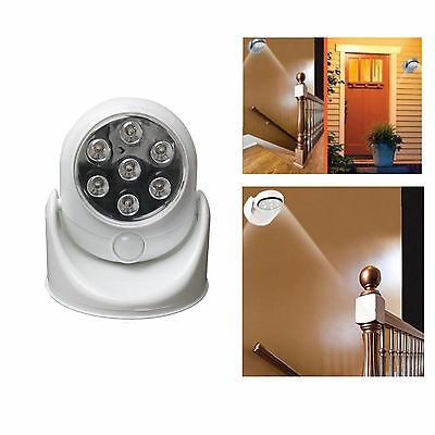 Motion Activated Cordless Sensor LED Indoor Outdoor Light Garden Patio Shed Wall