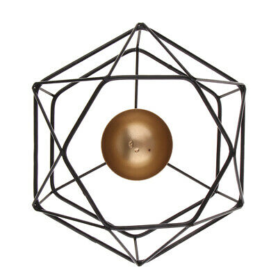 Wall Mounted 3D Geometric Tea Light Candle Holder Candlestick Home Decors