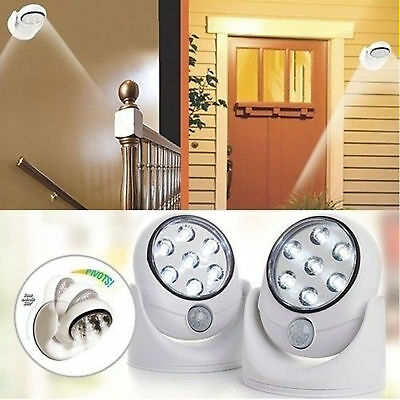 LED Motion Activated Sensor Light Cordless Indoor Outdoor Garden Wall Patio Shed