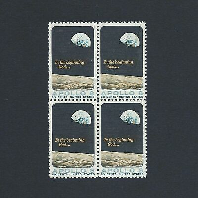 Apollo 8 Space Mission - Vintage Mint Set 4 Stamps 50 Years Old