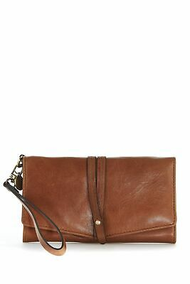 New Lily Rose Leather RFID Large Fold Large Womens Purse Wallet Tan