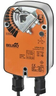 Belimo LF24-S US Damper Actuator, On/Off, Spring Return, 24 VAC/DC, Aux Switch
