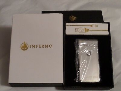 INFERNO Rechargeable USB Electric Plasma Lighter Windproof Flameless Double Arch