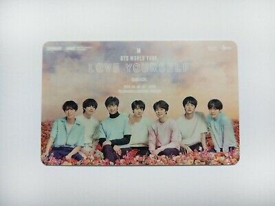 BTS World Tour LOVE YOUR SELF in Bangkok Ticket card for Collection ,army , kpop