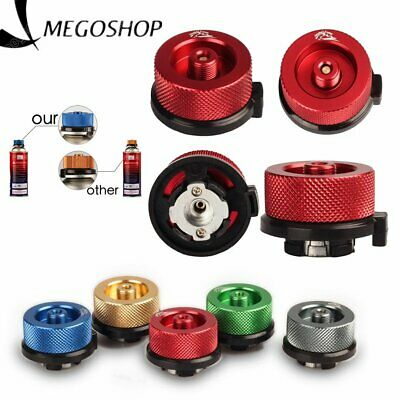 Gas Tank Adapter Camping Canister Valve Stove Burner Bottle Outdoor Converter Z