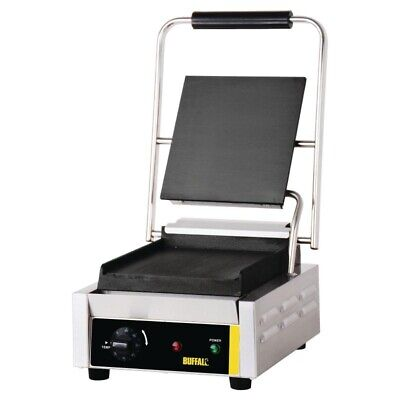 Buffalo Bistro Contact Grill Single Flat Plate (Next working day UK Delivery)