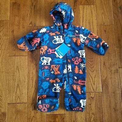 35ed1e816 NWT Boys Fireside Cuddle Columbia Snowtop Fleece Bunting Snow Suit 3/6