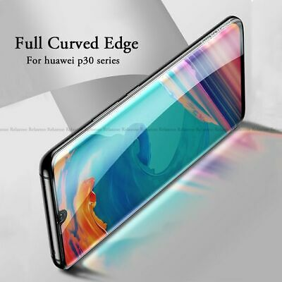 For Huawei P30 Pro P30 Lite 5D Curved Tempered Glass Film Screen Protector Film