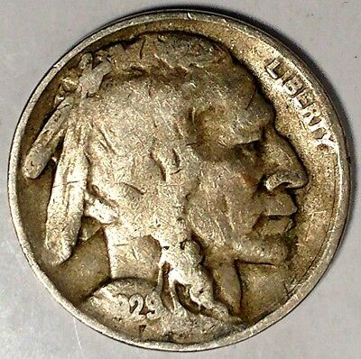 """1929-S 5C Buffalo Nickel, 18lsr1204 """"Only 50 Cents for Shipping"""""""