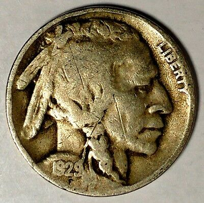 """1929-D 5C Buffalo Nickel, 18otc1304 """"Only 50 Cents for Shipping"""""""