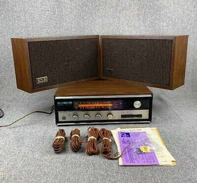 Vintage 70s KLH Model Fifty (50) FM AM Stereo Receiver AUX + Bookshelf Speakers