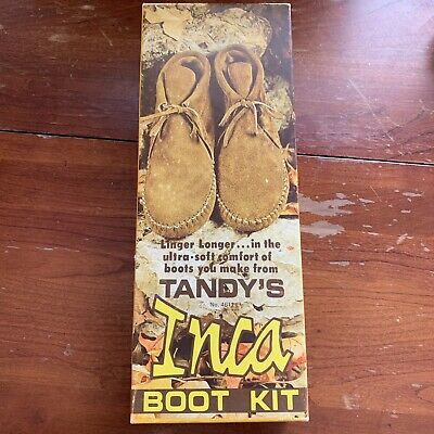 Vintage Inca Boot Kit By Tandy Leather Company Size 7 Started