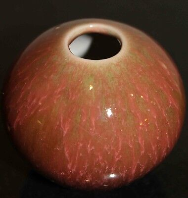 Small Round American Art Pottery Rose Bowl Vase