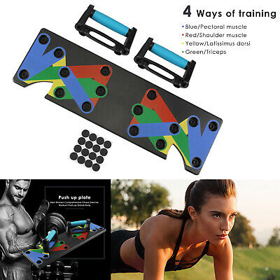 9 in 1 Push Up Rack Board System Fitness Workout Train Gym Exercise Stands Set