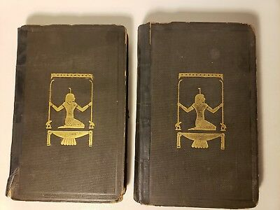 1842 'Ancient Egyptians' 2 Of 3 Vols Color Plates Egypt History Customs Religion