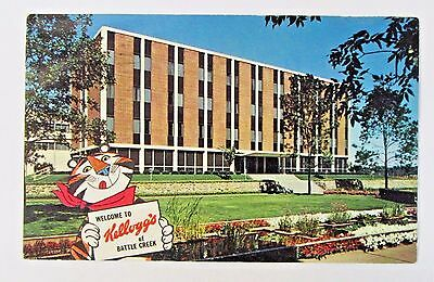1971 TONY TIGER WELCOME TO KELLOGG'S BATTLE CREEK color postcard CEREAL