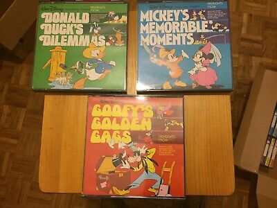 LOTTO Super 8 Colore Sonoro Walt Disney - Highlights - Paperino, Topolino, Pippo