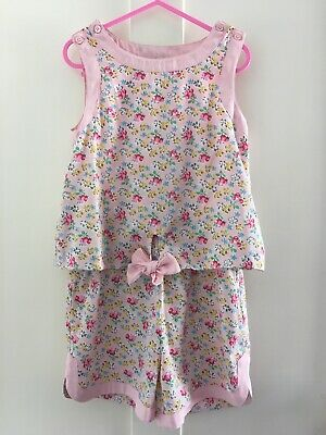 Next Girls Pink Floral Playsuit - Age 6 Years (5-6) - VGC