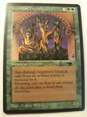 Green Antiquities Mtg Magic Common 4x x4 4 PLAYED Argothian Treefolk