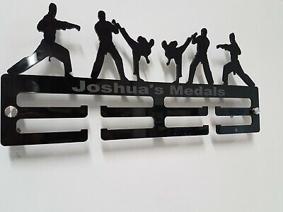 Martial Arts medal hanger/Display 2 Tier 5mm acrylic, Karate, Judo