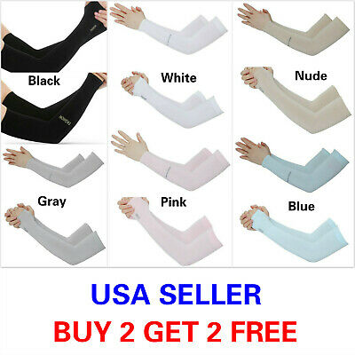 1 Pair Cooling Arm Sleeves Cover Sports UV Sun Protection Outdoor Unisex