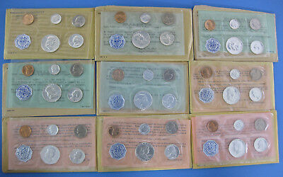 1956 thru 1964 10pc Proof Set Collection with OGP envelopes & paperwork