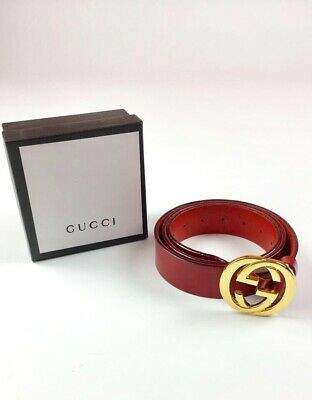 e0da7c509dd GUCCI LEATHER BELT With Crest Buckle Brand New. 100% Authentic ...