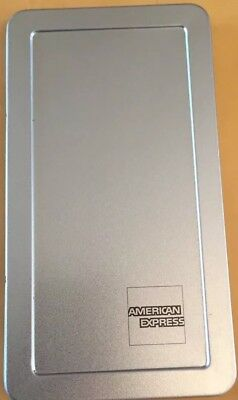 Lot 25 American Express Amex Silver Tin Check Presenter Tp Tray