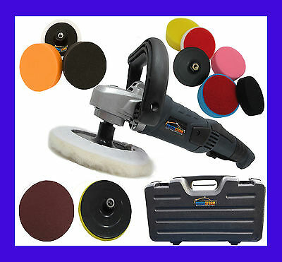 Car Polisher Polishing Valeting Wax Waxing Buffer Sander Pro With 12 Heads