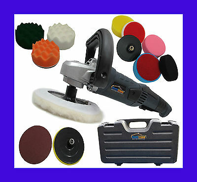 Car Polisher Polishing Valeting Wax Waxing Wavy Buffer Sander Pro With 12 Heads