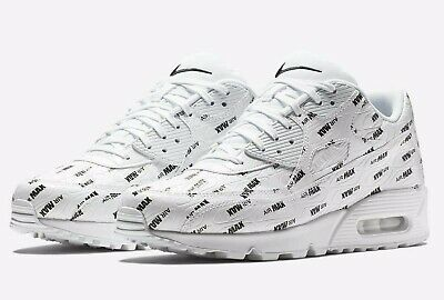 new product 9ad52 ddac8 Men s Nike Air Max 90 Premium Shoes White All Over Print 700155-103 Size 9