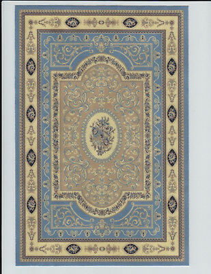 """0001567 7-1//2/"""" x 10-1//2/"""" 1:12 or 1/"""" Scale Dollhouse Miniature Area Rug Approx"""