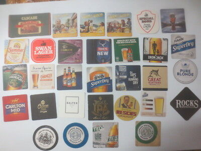 """31 different  AUSTRALIAN Breweries Issued, BEER COASTERS  """" MIXED """""""