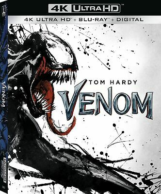 Venom (2018 4K Ultra Hd + Blu-Ray + Digital) New W/ Slipcover! Marvel Tom Hardy