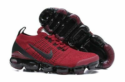New Nike Air Vapormax Flyknit 2019 3.0 Red Wine  Mens Sz 9 9.5 10 Aj6900-002 New