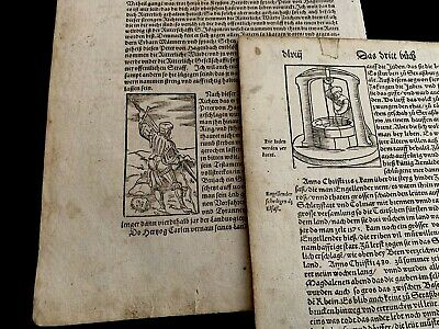 LOT OF TWO PAGES from INCUNABULA  1400s