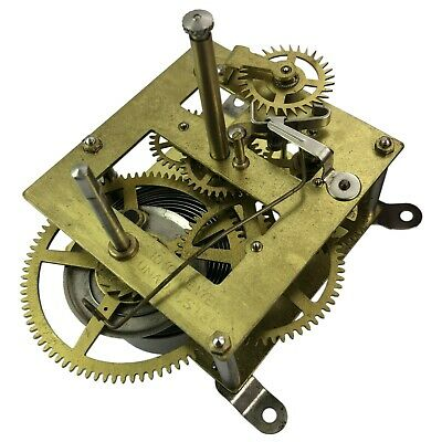 New 8 day large mantle clock movement replacement pendulum hands strike repair