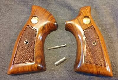 VINTAGE FACTORY WOOD Grips, Smith & Wesson K Frame, Square