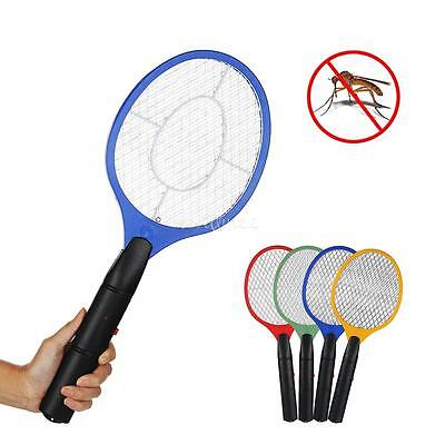 2x Mosquito Fly Swatter Killer Electric Bug Zapper Racket Insects Bat Handheld