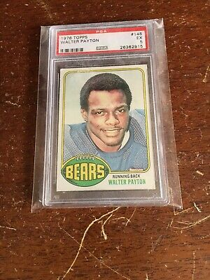 1976 Topps Football Card Walter Payton Rookie Rc 148 Psa 7