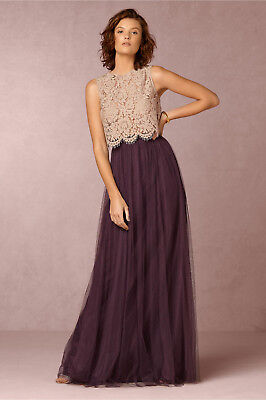 6fb7bcee3e New Anthropologie Bhldn $220 Orchid Louise Tulle Skirt By Jenny Yoo Sz 10