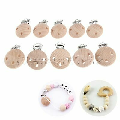 2/10Pcs Baby Infant Wooden Pacifier Suspender Clips Soother Dummy Nipples Holder